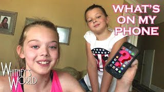 Whitney describes what is on her iphone.  Getting crazy!P.S. The dog in this video is Houston's brother, Chase.Check out the kids' new series – The Adventures of Gravity Gal and Quantum Qid!  https://www.youtube.com/playlist?list=PLEYe5bHOzJCgTHyvroqr3uIyCYf_K3cwxMy Official Links: Whitney's Instagramhttp://www.instagram.com/WhitneybflippinGravity Gal and Quantum Qid T-Shirtshttp://shop.spreadshirt.com/GravityGalandQuantumQid/Whitney's YouTube Channel https://www.youtube.com/c/WhitneyBjerkenWhitney's facebook https://www.facebook.com/WhitneyBjerkenWhitney's Musical.ly@whitneybflippinSterling's YouTube Channelhttps://www.youtube.com/channel/UC9xX46xoJk5t8akGmlGOQHwBraxton's YouTube Channelhttps://www.youtube.com/channel/UCfwO4mINcq46QNQDQDlHYagBlakely's YouTube Channelhttps://www.youtube.com/channel/UCaLnRk3WwZO3gxLn-JK8WlQHouston's YouTube Channelhttps://www.youtube.com/channel/UCmVoun2DI_opRem97UEBPDg💥Hey There!💥: You can help us translate this video, and get credit below! Click here: http://www.youtube.com/timedtext_cs_panel?c=UCUPfRa2JQtzWQZC7mLsr7bQ&tab=2