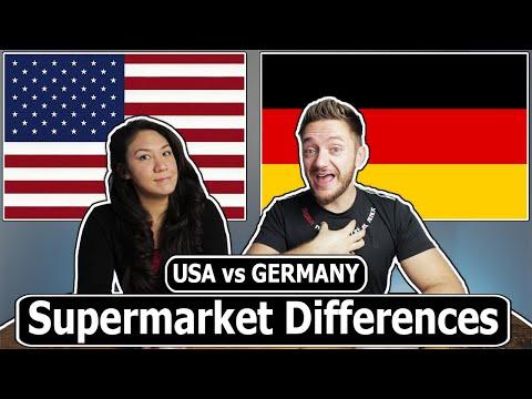 Supermarket Differences (Germany vs. USA)