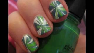 Water Marbling Nail Art Tutorial on Short Nails