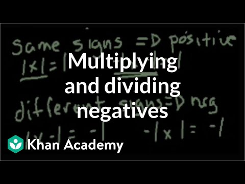 Multiplying and dividing negative numbers (video) | Khan Academy