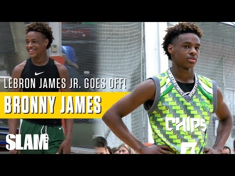 LeBron James Jr. goes OFF in George Hill Invitational: Bronny James Highlights