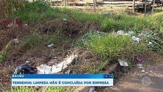 Empresa contratada para limpar terrenos em Bauru não conclui serviço