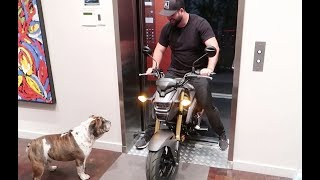 7. RIDING A MOTORCYCLE IN MY APARTMENT | NEW 2018 HONDA GROM