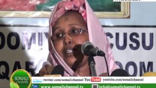 Warka Somali Channel Taaageerada Gudoomiyaha Haweenka Nairobi 12 11 2012
