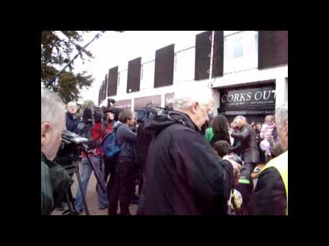 Timperley and Frank Sidebottom Statue Unveiling Panic on the streets of Timperley