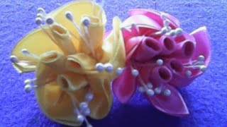 Video DIY-Cara membuat bunga mawar bergulung dari pita satin- How to make rolled roses of satin ribbons MP3, 3GP, MP4, WEBM, AVI, FLV Desember 2018