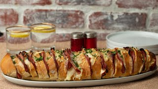 Ham & Cheese Pull-Apart Bread • Tasty by Tasty
