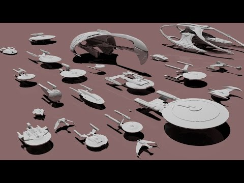 Comparing the Sizes of Star Trek Starships
