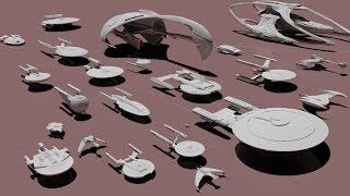 Different size of Star Trek spaceship
