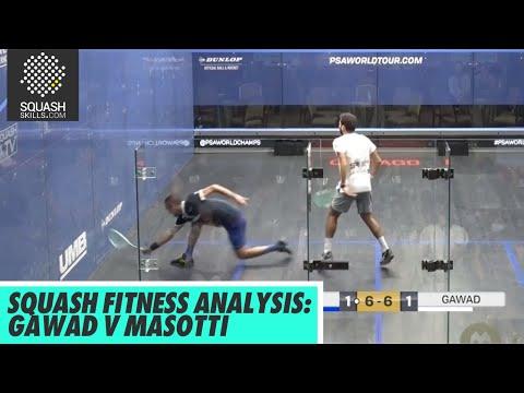 Squash Fitness Analysis: Baptiste Masotti v Karim Gawad