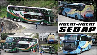 Video MANUVER SULIT SAMPAI SUSPENSI DIGEMBOSI | Trip Karina Double Decker & Blue Star MB OH1632 ke Jogja MP3, 3GP, MP4, WEBM, AVI, FLV Agustus 2018