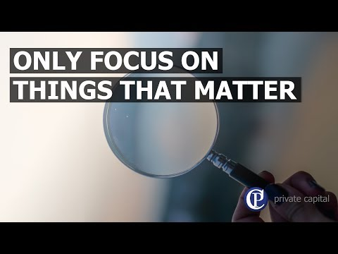 Only focus on things that matter