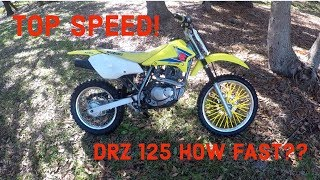 1. Drz 125 TOP SPEED RUN!