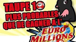 Video TOP 10 des choses plus probables que de gagner à l'Euromillions MP3, 3GP, MP4, WEBM, AVI, FLV Mei 2017