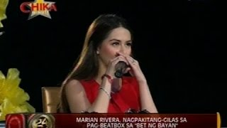 """Marian Rivera, nagpakitang-gilas sa pag-beatbox sa """"Bet ng Bayan"""""""