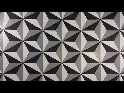 Pintura Decorativa Efeito 3D, Fácil de Fazer