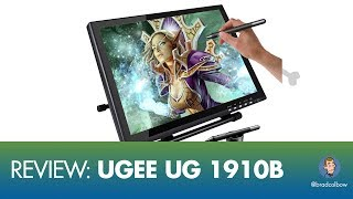 "The Ugee UG 1910b (http://www.gearbest.com/graphics-tablets/pp_364507.html?lkid=10790620) is a 19"" drawing monitor that can be connected to either a PC or a Mac and it turns out is has some pretty solid drawing tech on it. The down side is that there is just better hard ware out there. In this review I talk about the pros and cons of drawing on this tablet.My site with more reviews: http://bradcolbow.com/reviews/ugee-ug1910/See Gearbest's latest Promotion:http://www.gearbest.com/promotion-coupon-off-special-1372.html?lkid=10800236-----------------------------------------------------GET MY PROCREATE COURSE FOR $10https://www.udemy.com/drawing-and-painting-on-the-ipad-with-procreate/?couponCode=COMICCOLORING-----------------------------------------------------My Drawing Gear:Surface Pro 3 - https://alexa.design/2nyx5YGiPad Pro - https://alexa.design/2oSdp1RAdobe Photoshop and Illustrator- http://adobe.comAstropad - http://astropad.com/Procreate - http://procreate.art/Kyle's Brushes for Photoshop - https://www.kylebrush.com/My Video Gear: Camera - iPhone 6 (yeah, I know, but it works)iRig (connects mic to phone): https://alexa.design/2nyE6bNMic: Audio-Technica ATR2100-USB: https://alexa.design/2oYRZQnGrip tight phone mount: https://alexa.design/2nyFyLtRing Light: https://alexa.design/2orOaThTiny lil tripod thingy: https://alexa.design/2nW3fIFMy Twitter: https://twitter.com/bradcolbowMy Patreon: https://www.patreon.com/bradcolbowMy Drawing and video gear: http://bradcolbow.com/mygear/Sign up for the newsletter:http://whichdrawingtablet.com/newsletter-signup/"