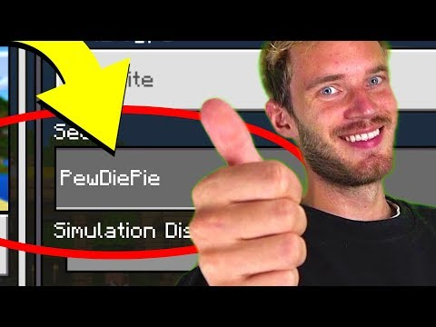 "Minecraft ""PewDiePie"" World (Pewdiepie Minecraft Seed)"