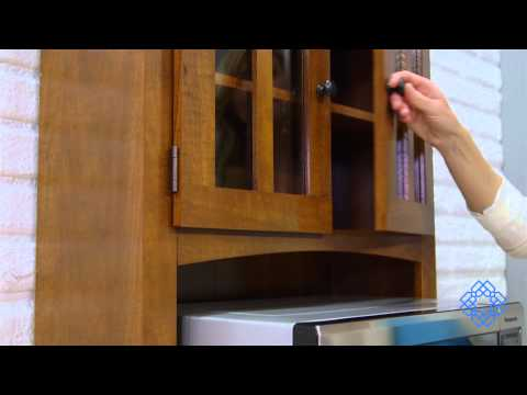 Video for Oak Tall Microwave Cabinet