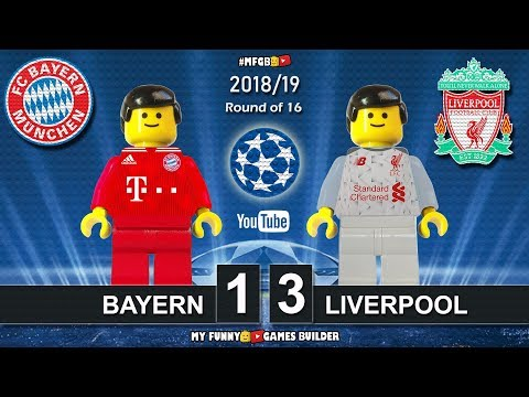 Bayern Vs Liverpool 1-3 • Champions League 2019 (13/03/2019) All Goals Highlights Lego Football