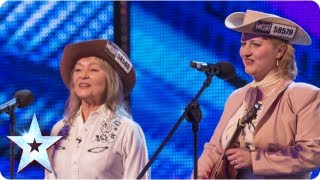 2's Country bring some of the ol' west to the stage - Week 1 Auditions | Britain's Got Talent 2013