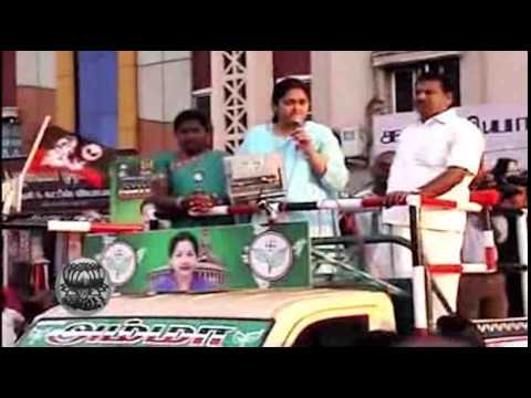 Dinamalar - Actress Vindhiya in Election Campaign for ADMK - Clips in Dinamalar Video.