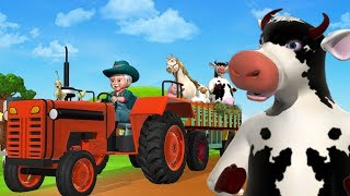 Old MacDonald  Had A Farm Animal Sounds Song - 3D Animation English Kids Songs & Nursery Rhymes For Children