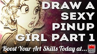Laurie B! How To Draw A Cartoon Pinup Girl Part One