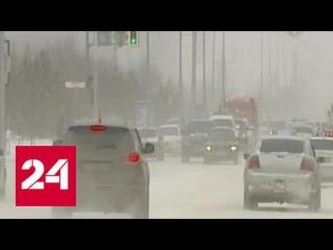 Небывалые снегопады обрушились на Казахстан (видео)