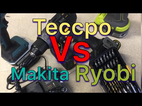 Recensione confronto Trapano Avvitatore  Brushless con percussione TECCPO MAKITA RYOBI 18V