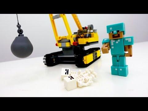 Лего #Майнкрафт. Скелеты разрушили дом Стива! Видео про игрушки. ИгроБой Глеб