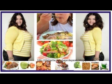 Dieta para bajar de peso -  Dieta para adelgazar  - Perdida de peso saludable