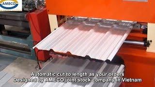 Video Máy cán tôn sóng vuông - AMECO Roofing roll forming machine MP3, 3GP, MP4, WEBM, AVI, FLV Agustus 2018
