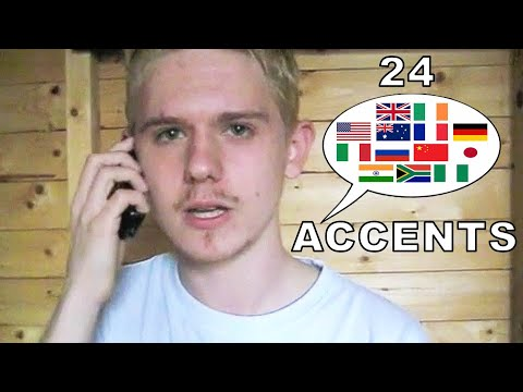24 differents accents anglais en 8 minutes