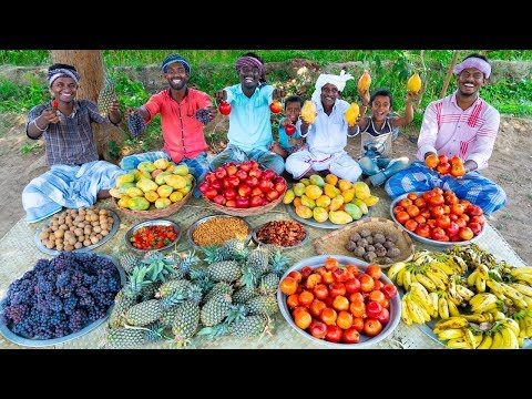 FRUITS MIXER | MIXED FRUIT JUICE Recipe | Making Healthy Fruits Recipe | Village Cooking Channel