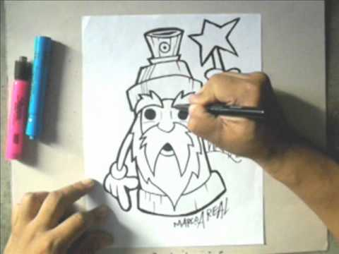 How to draw a WIZARD Spraycan Character