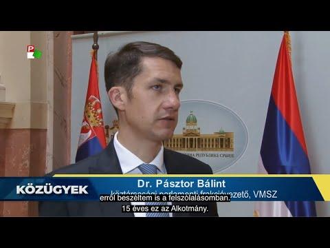 Interjú dr. Pásztor Bálinttal, a VMSZ köztársasági parlamenti frakcióvezetőjével-cover