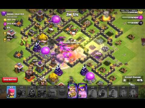 Clash of Clans Android Gameplay (Attack Gameplay) GOWIPE