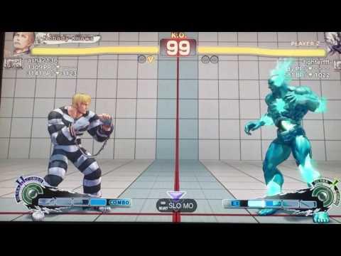 Ultra Street fighter 4 ranked battle Seth (fighterfff) vs Cody (asha2136)