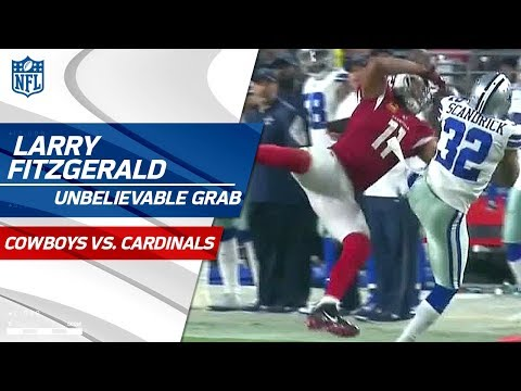 Video: Larry Fitzgerald Rips It Away from Scandrick for an Amazing Catch | Cowboys vs. Cardinals | NFL Wk 3