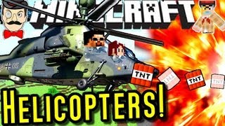 Minecraft HELICOPTERS! New Realistic Helicopters - Mod Showcase!