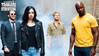 Marvel - Os Defensores reúne Demolidor (Charlie Cox), Jessica Jones (Krysten Ritter), Luke Cage (Mike Colter) e Punho de Ferro (Finn Jones). Quatro heróis ...