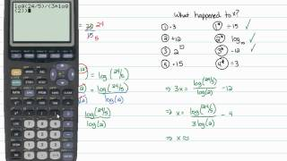 Intermediate Algebra - Logarithms: Solving Any Exponential Equation