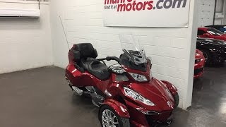 7. 2015 CAN-AM Spyder SOLD SOLD SOLD RT Limited Touring SE6 Loaded with Navigation Reverse Munro Motors