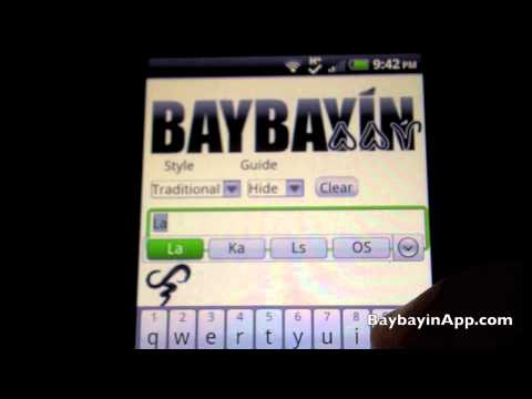 Video of Baybayin Translator