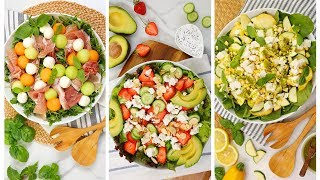 3 Fresh Summer Salads | No Cook Recipes + Healthy + Easy by The Domestic Geek