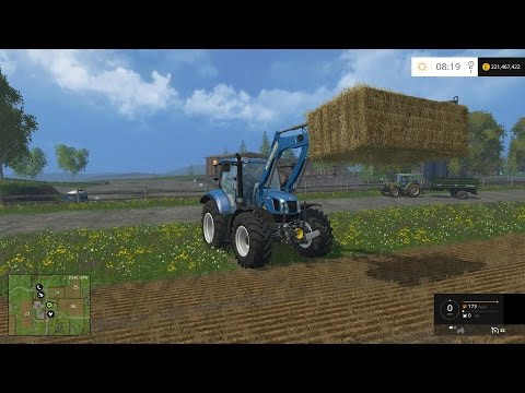 Farming Simulator 15: First Impressions And Stacking The First Bale!