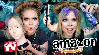 7 Weird HAIR DYING Gadgets from Amazon Tested! by GRAV3YARDGIRL