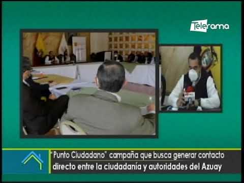 Punto ciudadano campaña que busca generar contacto directo entre la ciudadanía y autoridades del Azuay