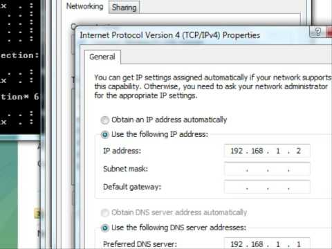 How to change ip address on vista (advance)